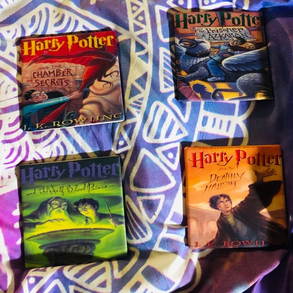 Harry potter Book Cover Coasters (set of 5)